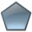 Shape Pentagon Icon 64x64