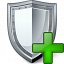Shield Add Icon 64x64