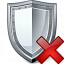 Shield Delete Icon 64x64