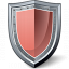 Shield Red Icon 64x64
