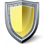 Shield Yellow Icon 64x64