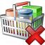 Shopping Basket Delete Icon 64x64