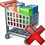 Shopping Cart Delete Icon 64x64