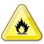 Sign Warning Flammable Icon 64x64