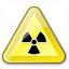 Sign Warning Radiation Icon 64x64