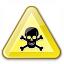 Sign Warning Toxic Icon 64x64