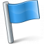 Signal Flag Blue Icon 64x64