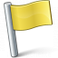 Signal Flag Yellow Icon 64x64