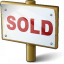Signboard Sold Icon 64x64