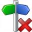 Signpost Delete Icon 64x64