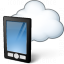 Smartphone Cloud Icon 64x64