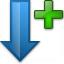Sort Down Plus Icon 64x64