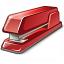 Stapler Red Icon 64x64