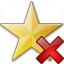 Star Yellow Delete Icon 64x64