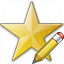Star Yellow Edit Icon 64x64