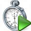 Stopwatch Run Icon 64x64