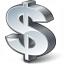 Symbol Dollar Icon 64x64
