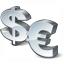 Symbol Dollar Euro Icon 64x64