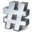 Symbol Hash Icon 64x64