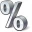 Symbol Percent Icon 64x64