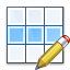 Table Row Edit Icon 64x64