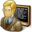 Teacher Blackboard Icon 64x64