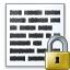 Text Lock Icon 64x64