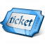 Ticket Blue Icon 64x64