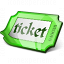 Ticket Green Icon 64x64