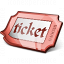 Ticket Red Icon 64x64