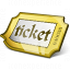 Ticket Yellow Icon 64x64