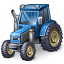 Tractor Blue Icon 64x64