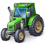 Tractor Green Icon 64x64