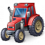 Tractor Red Icon 64x64