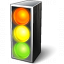 Trafficlight On Icon 64x64