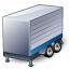 Truck Trailer Blue Icon 64x64