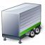 Truck Trailer Green Icon 64x64