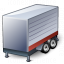 Truck Trailer Red Icon 64x64