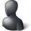 User Generic 2 Black Icon 64x64