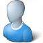 User Generic Blue Icon 64x64