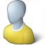 User Generic Yellow Icon 64x64