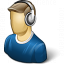 User Headphones Icon 64x64