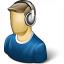 User Headphones Icon 64x64
