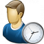 User Time Icon 64x64