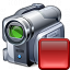 Videocamera Stop Icon 64x64