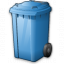 Waste Container Blue Icon 64x64