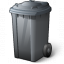 Waste Container Grey Icon 64x64
