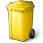 Waste Container Yellow Icon 64x64