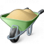Wheelbarrow Full Icon 64x64