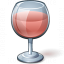 Wine Rose Glass Icon 64x64